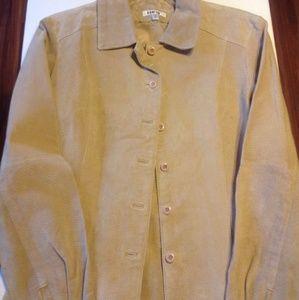 Rampage beige leather  jacket Sz L